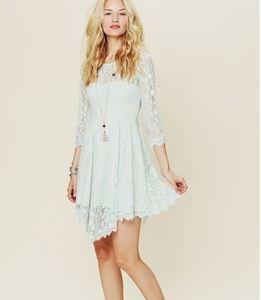 Free People Mint Lace Overlay Dress - XS